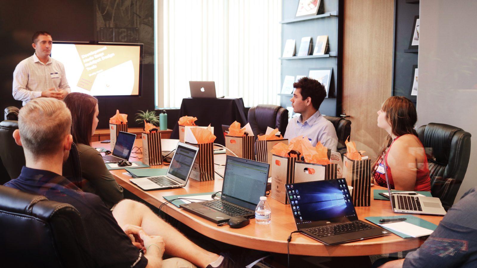 Veranstaltung Meeting im Hotel mit Technik